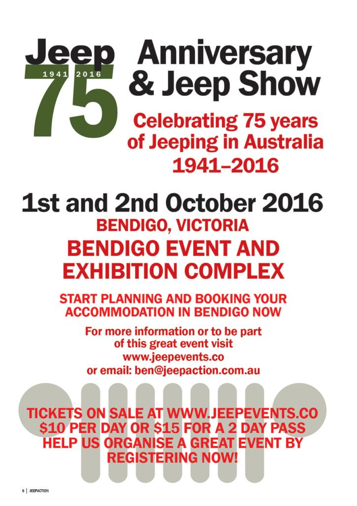 75th Anniversary of Jeep in Australia